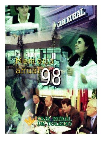 Memoria 1998 Caja Rural de Toledo