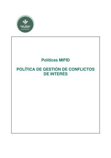 Consulta nuestra Política de Conflicto de Intereses - Caja Rural de ...