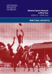 Writing Sports - Level 6 (Year 9/10) - Melbourne Cricket Ground