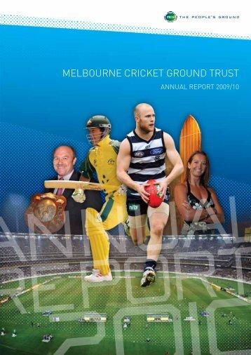 2009/10 MCG Trust Annual Report - Melbourne Cricket Ground