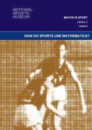 HOW DO SPORTS USE MATHEMATICS? - Melbourne Cricket Ground