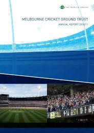 2010/11 MCG Trust Annual Report - Melbourne Cricket Ground