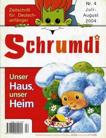 Zeitschrift für Deutsch- anfänger Nr. 4 Juli- August 2004