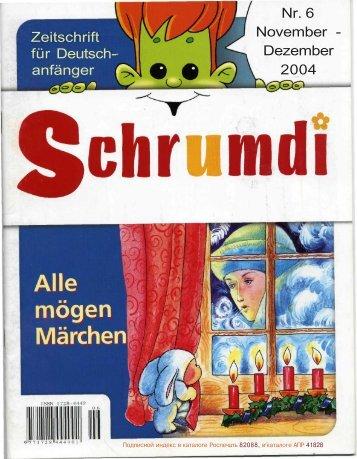 Zeitschrift für Deutsch- anfänger Nr. 6 November - Dezember 2004