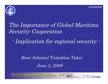 Rear Admiral Takei Presentation Part One - RUSI