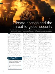Climate change and the threat to global security - RUSI