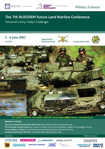 7th FUTURE LAND WARFARE CONFERENCE PAYMENT ... - RUSI