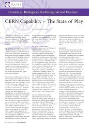 CBRN Capability – The State of Play - RUSI