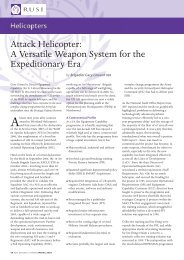 Attack Helicopter: A Versatile Weapon System for the ... - RUSI