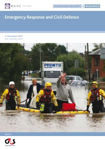 Emergency Response and Civil Defence - RUSI