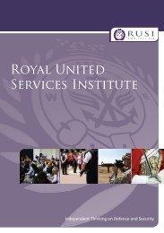Download the RUSI Corporate Brochure