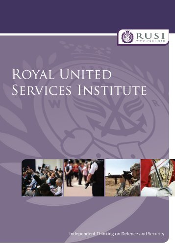 Download the RUSI Corporate Brochure