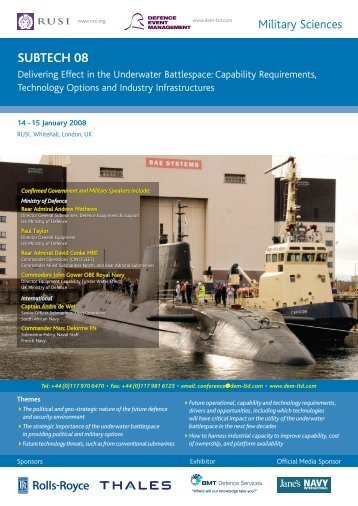 SUBTECH08 brochure - RUSI