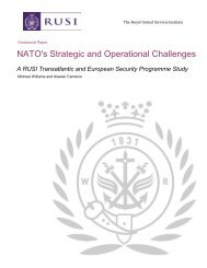 NATO's Strategic and Operational Challenges - RUSI