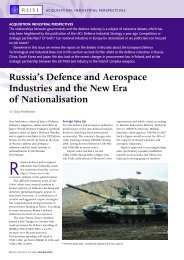 Russia's Defence and Aerospace Industries and the New Era ... - RUSI