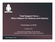 Total Support Force – What It Means For Defence and Industry - RUSI