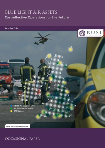 Blue Light Air Assets: Cost-effective Operations for the Future - RUSI