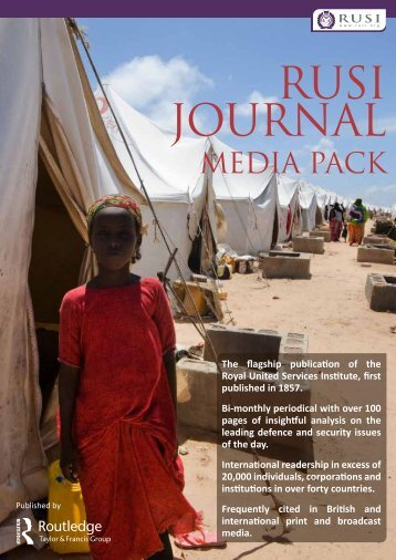 To view the RUSI Journal Media Pack please click here