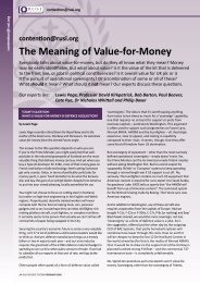 The Meaning of Value-for-Money - RUSI