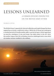 LESSONS UNLEARNED - RUSI