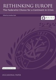 Rethinking Europe: The Federalist Choice for a Continent in ... - RUSI