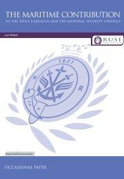 Maritime Contribution to National Secu - RUSI