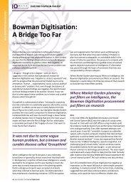 Bowman Digitisation: A Bridge Too Far - RUSI