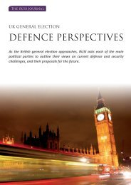 Leaders' statements published in the RUSI Journal