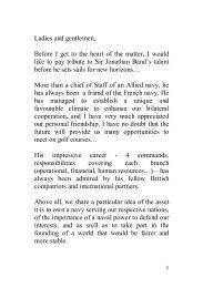 Admiral Forissier Speech - RUSI