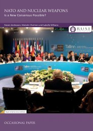 NATO and Nuclear Weapons: Is a New Consensus Possible? - RUSI