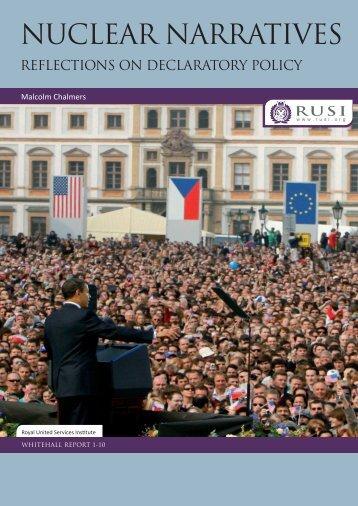 WHR Nuclear Narratives - RUSI
