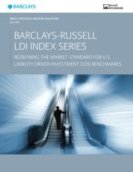 Barclays-Russell LDI Index Series - Russell Investments