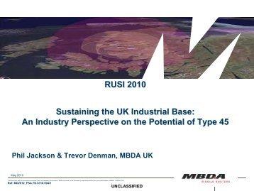 RUSI 2010 - Toward a Type45 BMD Capability