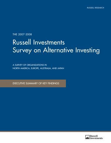 Russell Investments Survey on Alternative Investing