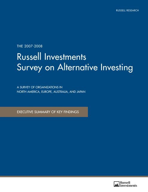 global survey on alternative investing russell investments