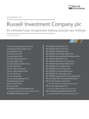 Russell Investment Company plc - Russell Investments