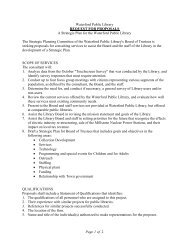 Page 1 of 2 Waterford Public Library REQUEST ... - Russell Library