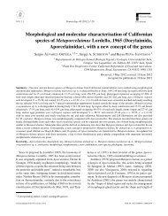 Morphological and molecular characterisation of Californian species ...