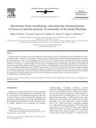 Occurrence, hosts, morphology, and molecular characterisation of ...