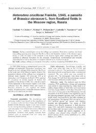 Heterodera cruciferae Franklin, 1945, a parasite of Brassica ...