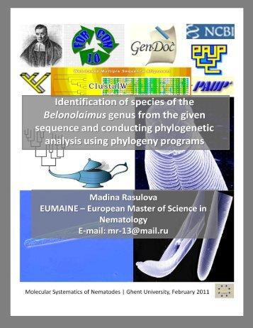 Madina Rasulova Molecular Systematics of Nematodes Page 1