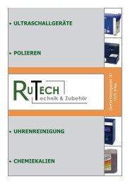 Produktübersicht (PDF) - RUTECH Rupp GmbH