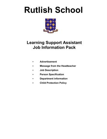 Rutlish School Learning Support Assistant Job Information Pack