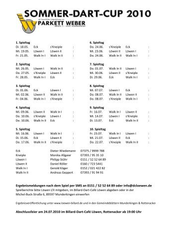 Download Spielplan mit Kontakten (PDF, 339 KB) - Elektrostoehr.de