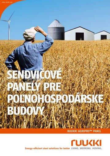 Sendvicove panely pre polnohospodarske budovy - Ruukki