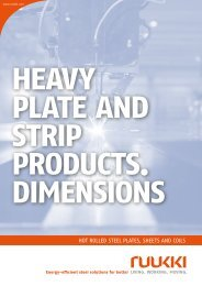 Dimensions for heavy plate and strip products - Ruukki