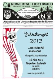 Jahreskonzert 2013 - Verbandsgemeinde Ruwer