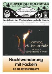 Nachtwanderung mit Fackeln - Verbandsgemeinde Ruwer