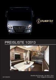 PREISLISTE 1/2013 - Berger Reisemobile