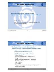 Service Level Agreements im Spannungsfeld zwischen zentraler ...